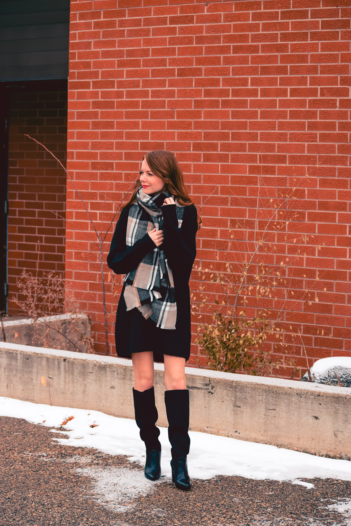 how to style your sweater dress